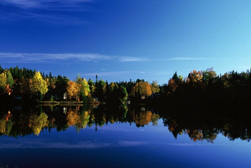 Small lake in Saguenay Region