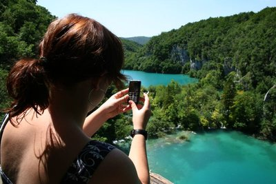 Janelle takes photo of Plitvice