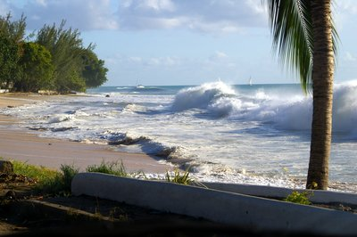 Not your usually sea at Mullians Beach, Barbados