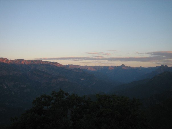 Sunrise in Copper Canyon