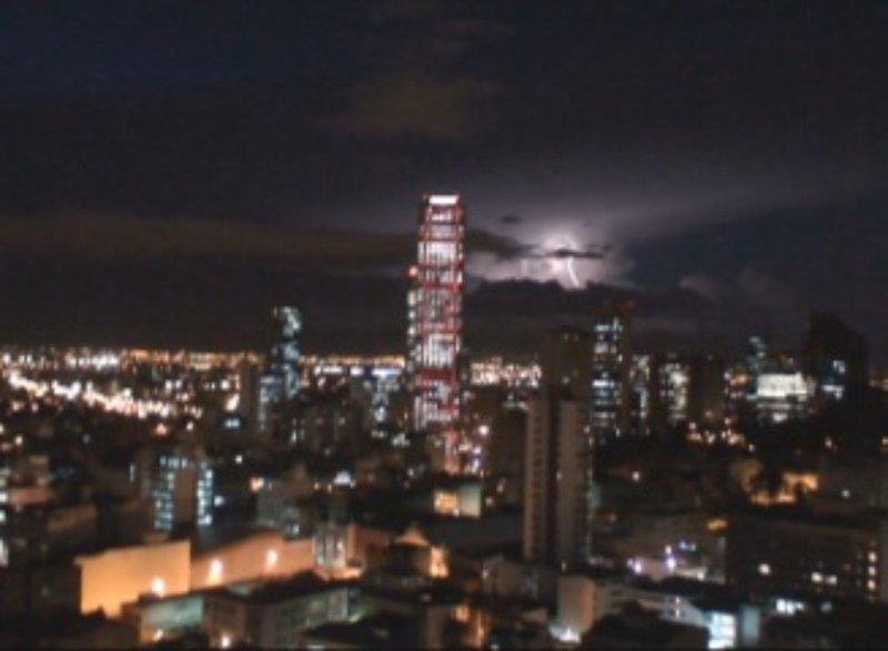Lightning over Bogota Colombia