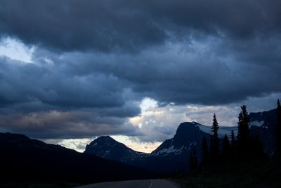 Canadian Rockies at dusk