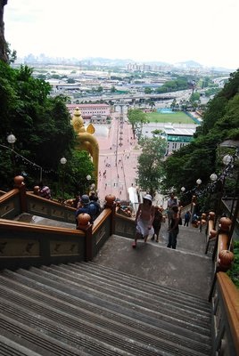Batu Cave steps (from the top looking down)