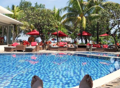 Pool view, Kuta Seaview Hotel Bali