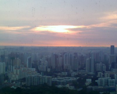 Sunset from Swissôtel The Stamford Singapore