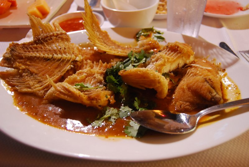 Deep fried red talapia