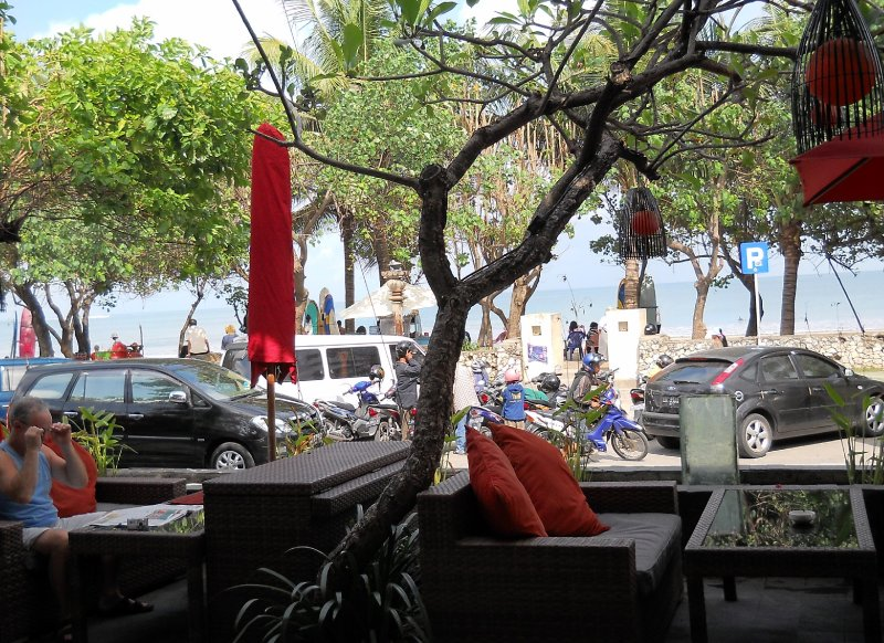 Dining area view, Kuta Seaview Hotel Bali