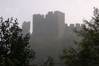 English Castle in Mist