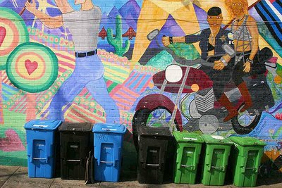 Wheelie bins and art
