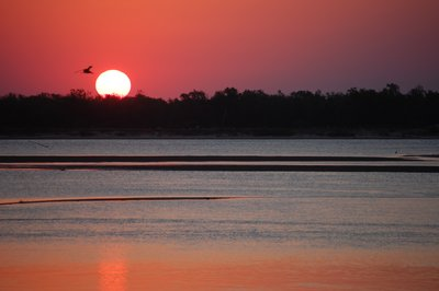Sunset on the Rio Parana near Lavalle - Prov. Corrientes - Argentina