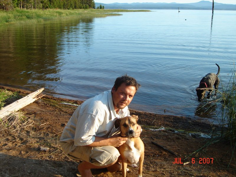me and my dog (Florida) in Bend, Or