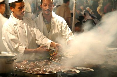 Marrakech food stalls