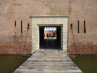 Day_111_-_Fort Pulaski, Draw Bridge at Main Gate