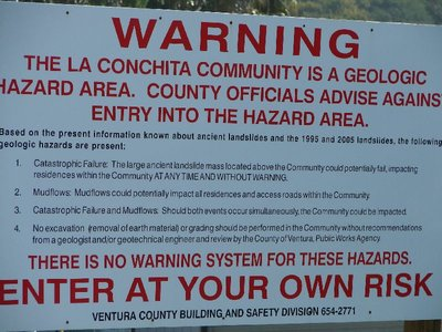 Day 177 - La Conchita, Warning