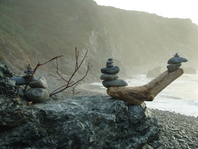 Day 180 - Sand Dollar Beach, Stacked Rocks