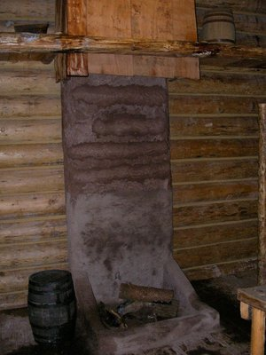 Day 207 - Fort Clatsop, Fireplace
