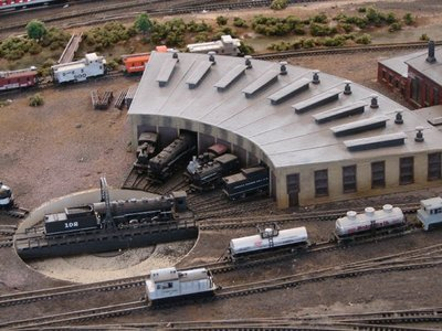 Day 62 - Danbury Railway Museum, Model of Roundhouse