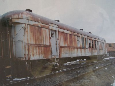 Day 62 - Danbury Railway Museum, Photo Mail Car before Restoration