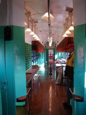Day 62 - Danbury Railway Museum, Mail Car Interior long