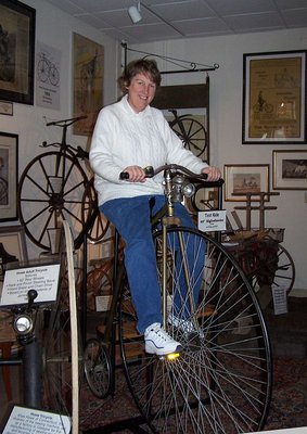Day 77 - Velocipede Museum, JL on High Wheeler