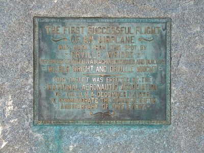 Day 98 - Kitty Hawk, Take Off Plaque