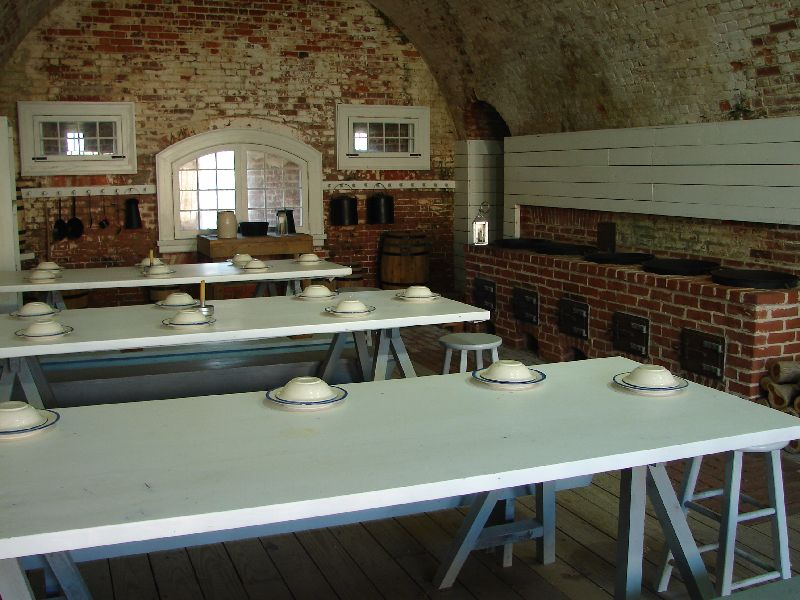 Day_101_-_Fort Macon, Kitchen