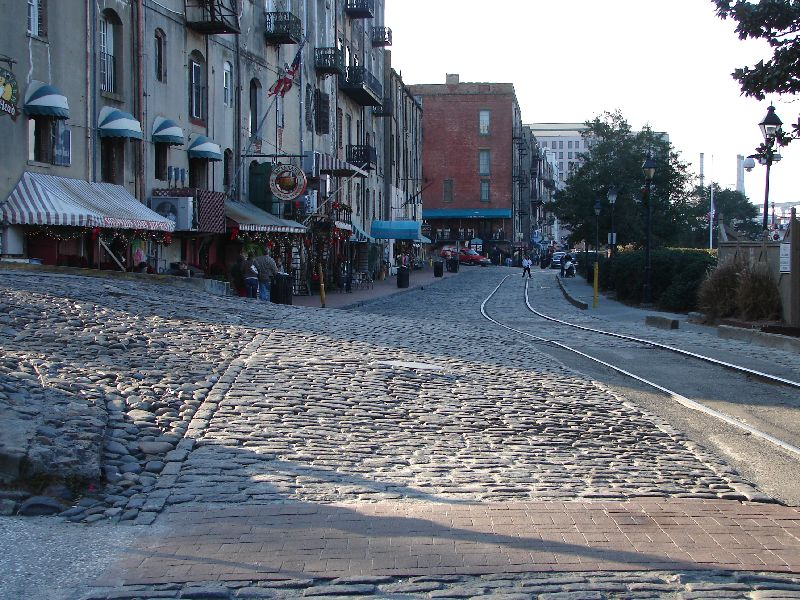 Day_110_-_Savannah, River Street Cobblestones