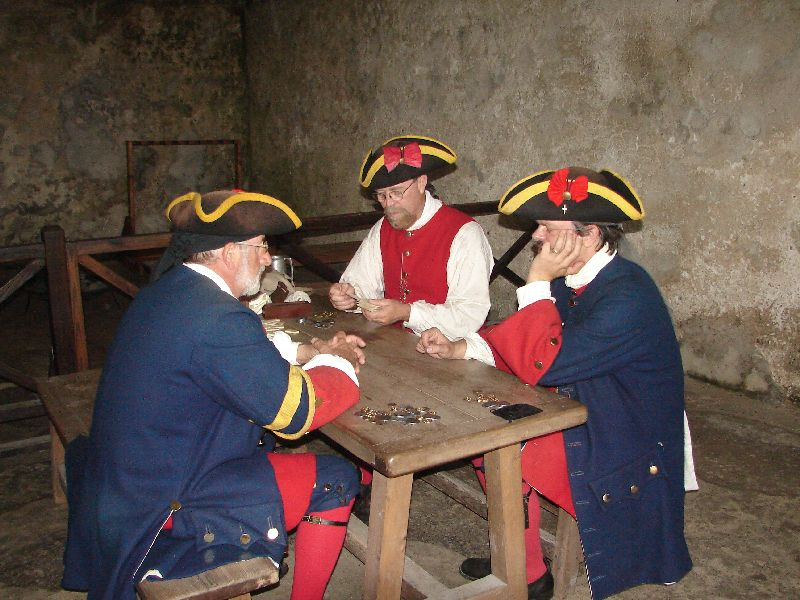 Day 134 - Castillo de San Marcos, Soldiers Playing Cards
