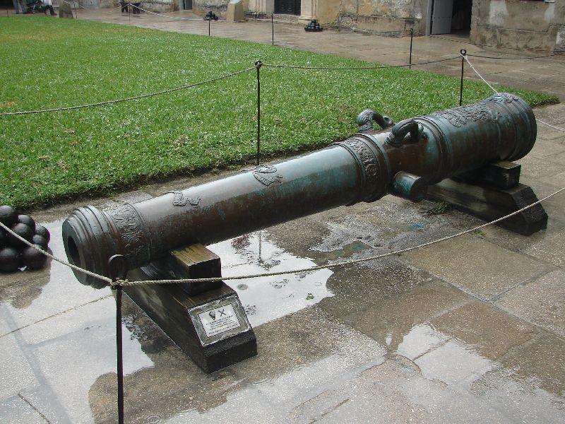 Day 134 - Castillo de San Marcos, Bronze 18 lb Cannon 1764