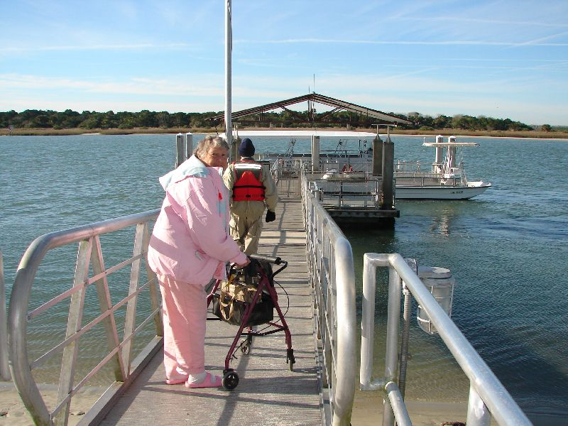 Day 135 - Fort Matanzas, Mom & Ferry