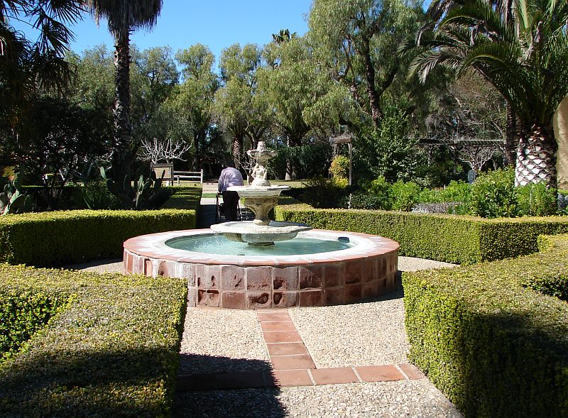 Day 178 - Mission Santa Ines, Garden & Fountain