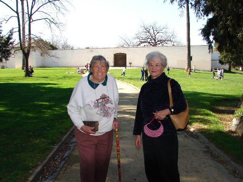 Day 185 - Sutters Fort, Mom & Pam