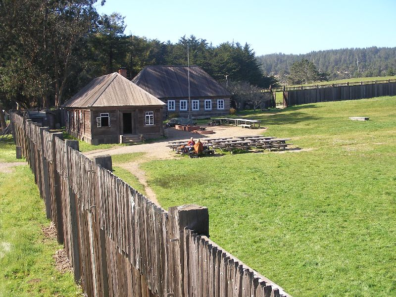 Day 197 - Fort Ross, Bldgs from Blockhouse