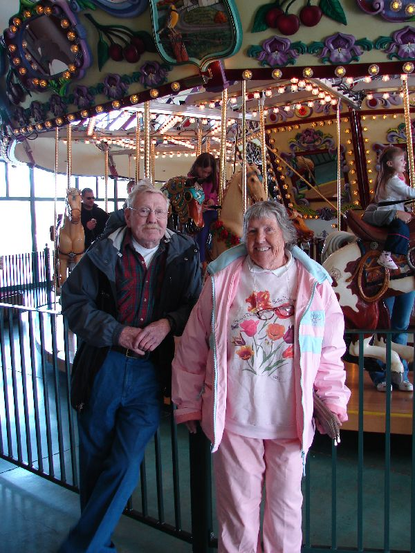 Day 203 - Salem, Carousel w. Mom & Bill