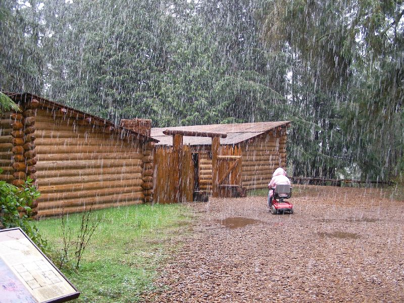 Day 207 - Fort Clatsop, Mom In Snow