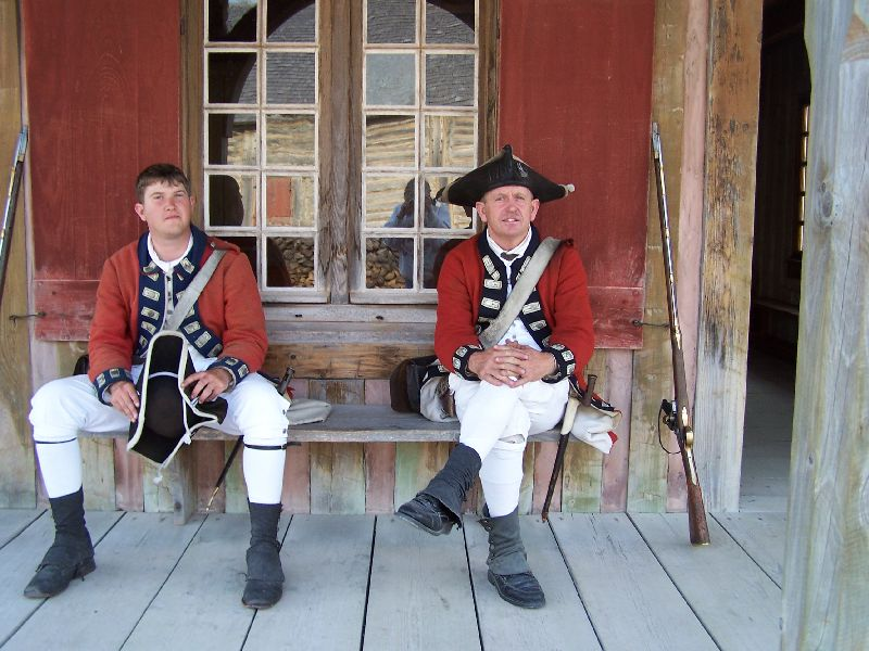 Day 20 - Fort Michilimackinac, Soldiers