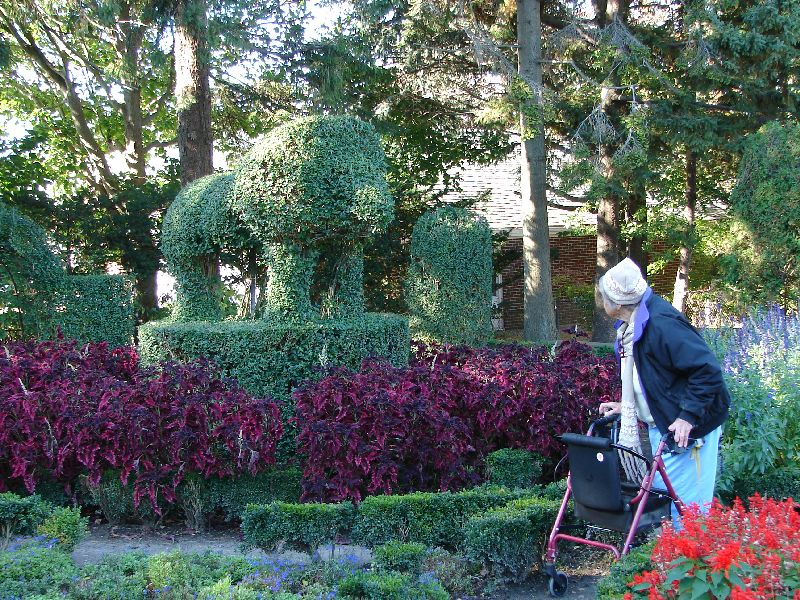 Day 58 - Topiary Garden, Mom & Lion