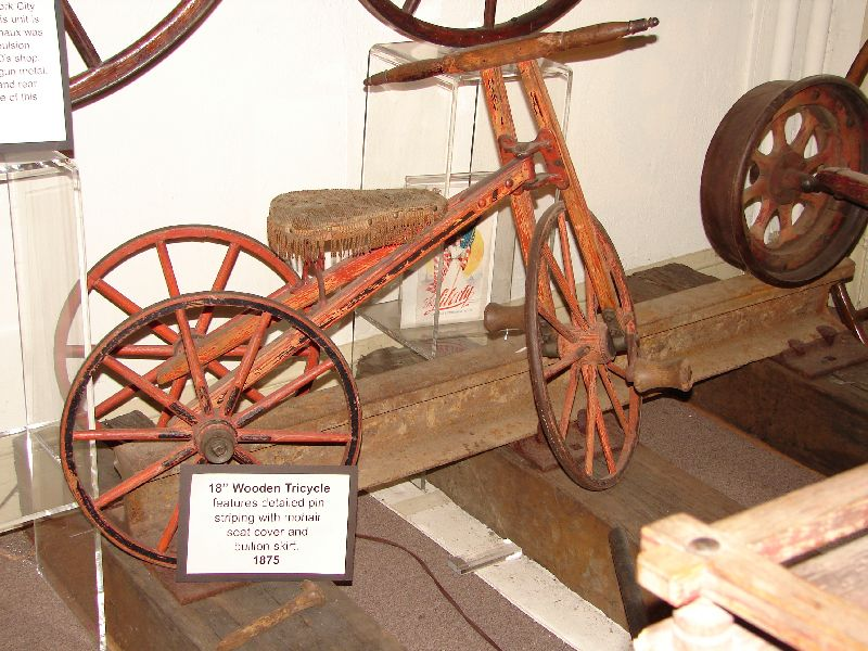 Day 77 - Velocipede Museum, Wooden Tricycle
