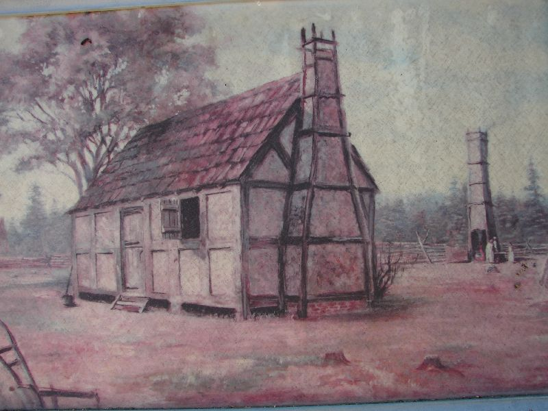 Day 89 - Jamestown, Typical House Painting
