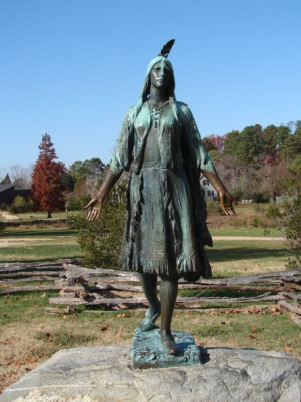 Day 89 - Jamestown, Pocohontas Statue