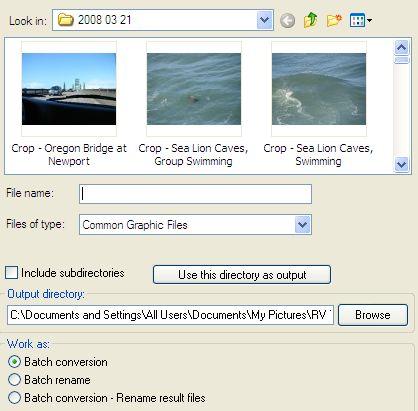 TP - IrfanView - Batch Output Directory