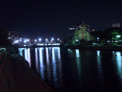 Hiroshima River at Night
