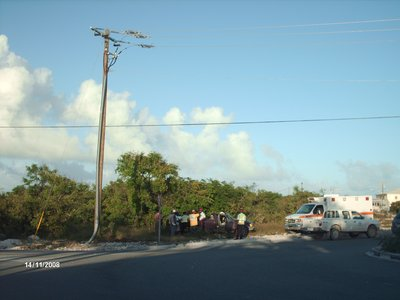 Accident in Providenciales, Turks and Caicos Islands