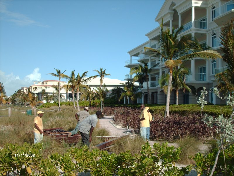 Workers at Condo in Providenciales