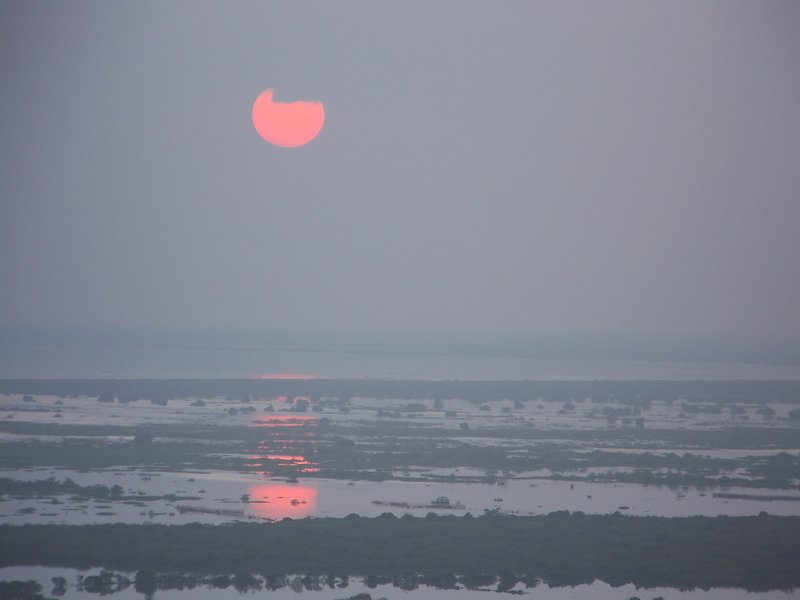 Sunset Over Tonle Sap Lake