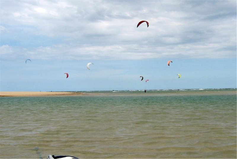 Glorious kiteboards fill the sky