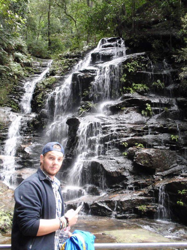 Ian and waterfall