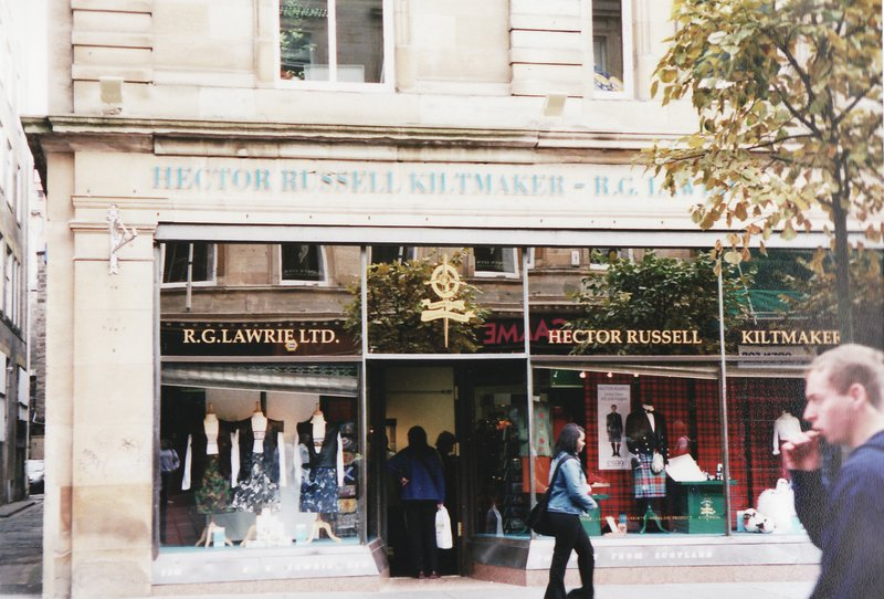 Magasin de kilt à Glasgow