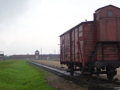 End of the ride at Birkenau