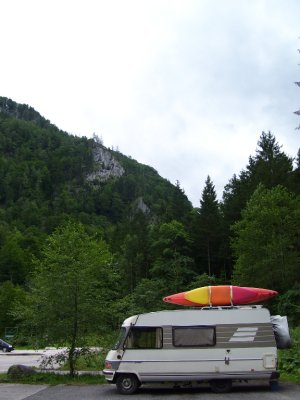 Hymer in Kalkpen Park, Austria